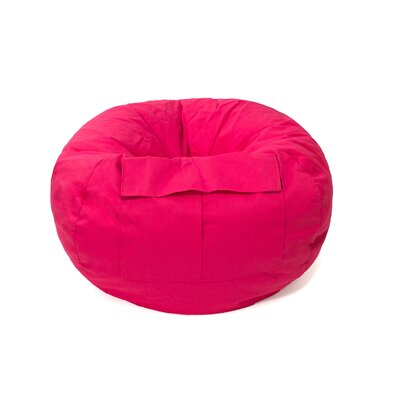 Denim Bean Bag Chair Upholstery: Pink, Size: Extra Large