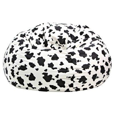 Gold Medal Bean Bags Cow Print Bean Bag Chair | Wayfair