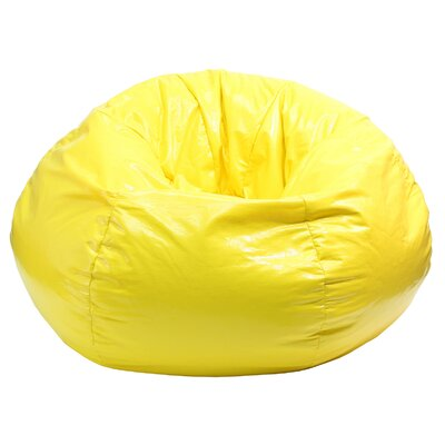Wet Look Bean Bag Chair Upholstery: Yellow