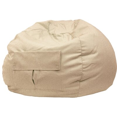 Denim Bean Bag Chair Size: Small / Toddler, Upholstery: Khaki