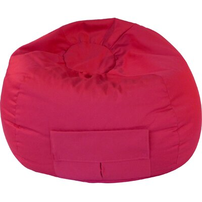 Denim Bean Bag Chair Upholstery: Red, Size: XX Large