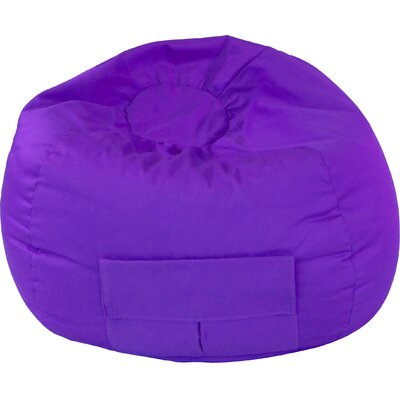 Denim Bean Bag Chair Upholstery: Purple, Size: Medium / Tween