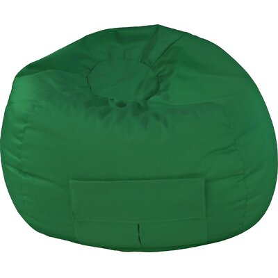 Denim Bean Bag Chair Upholstery: Dark Green, Size: Medium / Tween