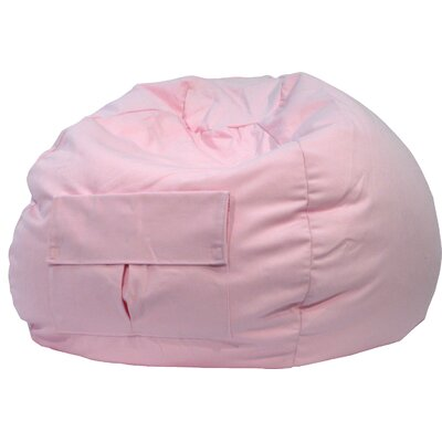 Denim Bean Bag Chair Upholstery: Pink, Size: Medium / Tween