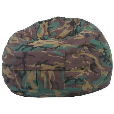 Camouflage Bean Bag Chair Size: Medium / Tween