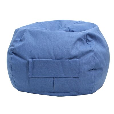 Denim Bean Bag Chair Size: Small / Toddler, Upholstery: Blue