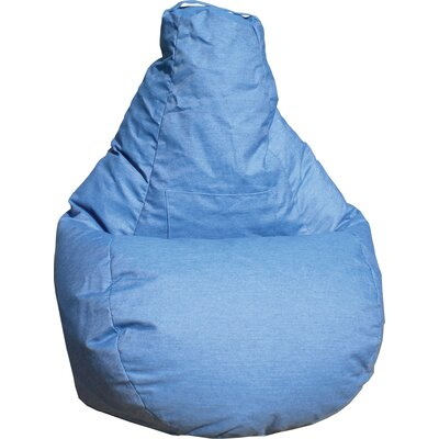 Dorm Bean Bag Chair Upholstery: Blue