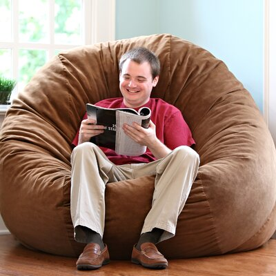 Comfort Cloud Bean Bag Chair Size: 6, Upholstery: Cocoa