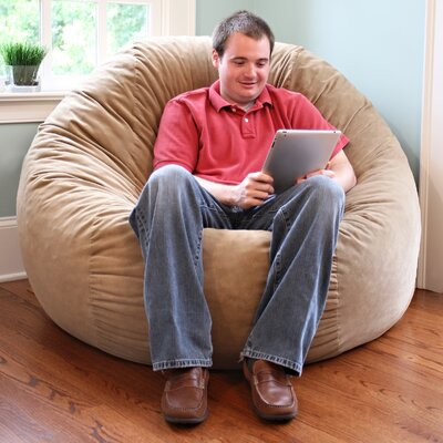 Comfort Cloud Bean Bag Chair Size: 6, Upholstery: Camel