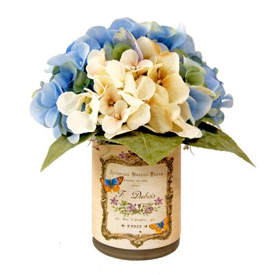 Hydrangea French Butterfly Vase