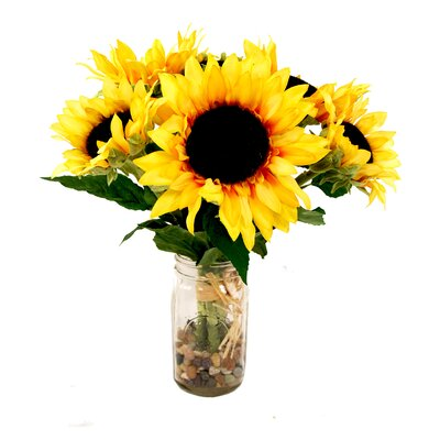 Sunflower Bouquet Mason Jar