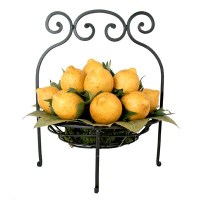 Lemons in Scrolled Iron Basket