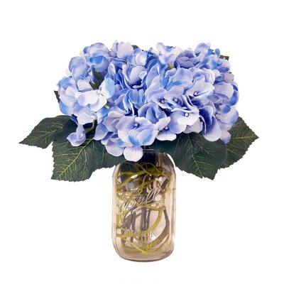 Spring Additions Blue Hydrangeas In Acrylic Water Mason Jar