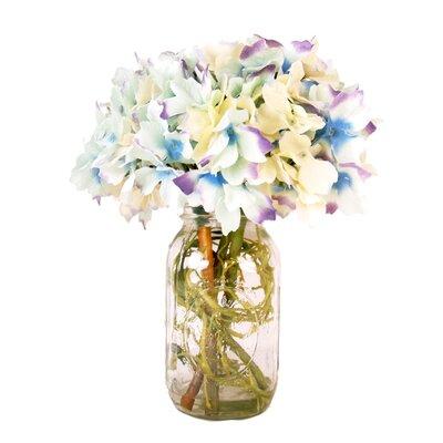 Spring Additions Confetti Hydrangea Mason Jar