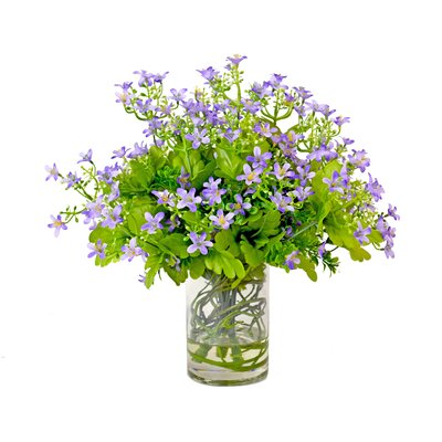 Spring Additions Gypso With Curly Willow Water Vase