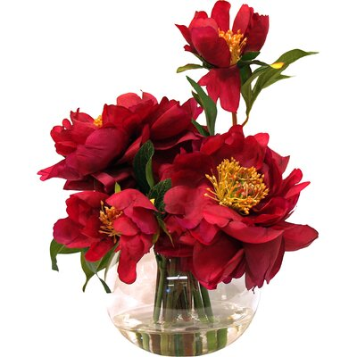 Magenta Peony Arrangement in Water