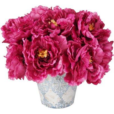 Magenta Peony Bouquet in Pot WA291