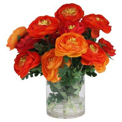 Faux Red & Orange Ranunculus PTM4