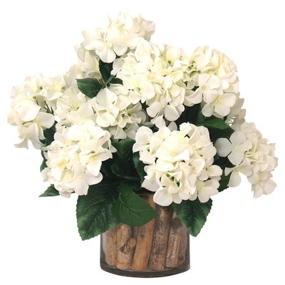 Faux Hydrangea & Birch Floral Arrangements
