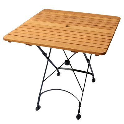 Rebecca Dining Table Umbrella Hole: Yes, Table Size: 31