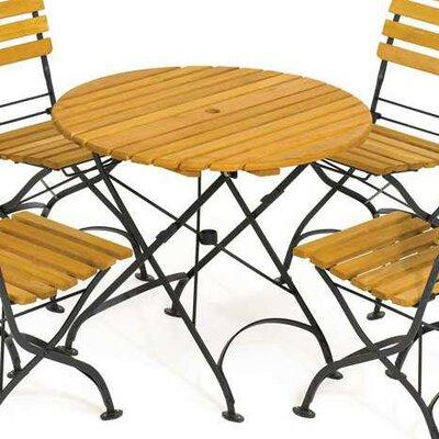Rebecca Folding Round Table Table Size: 33, Umbrella Hole: Yes