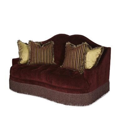 Imperial Court Tufted Loveseat Upholstery: Eggplant