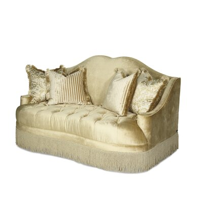 Imperial Court Tufted Loveseat Upholstery: Pearl