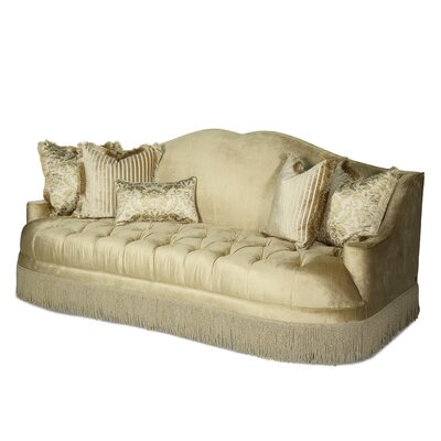 Imperial Court Tufted Sofa Upholstery: Pearl