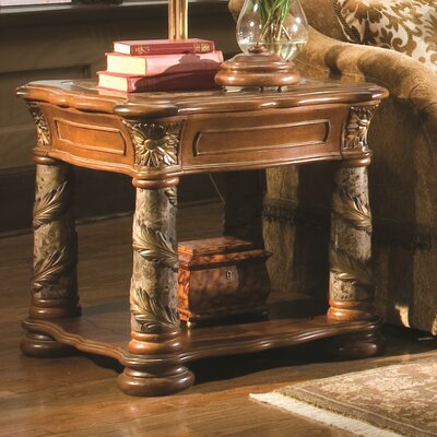 Villa Valencia End Table Marble Columns