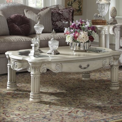 Monte Carlo II Coffee Table Finish: Silver Pearl