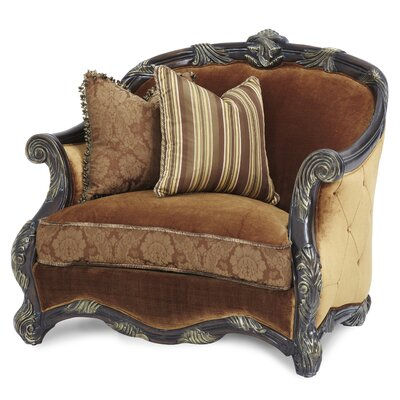 Essex Manor Chair and a Half Upholstery Color: Deep Brown