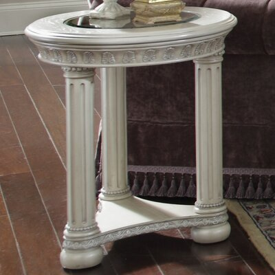 Monte Carlo II Side Table Color: Silver Pearl
