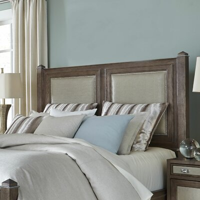 Biscayne West Upholstered Panel Headboard Finish: Haze, Size: King