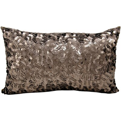 Sequin Silk Lumbar Pillow Color: Bronze