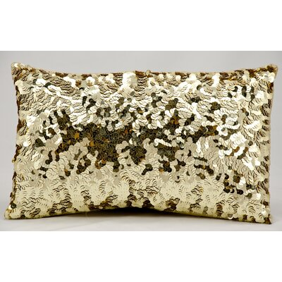 Sequin Silk Lumbar Pillow Color: Gold