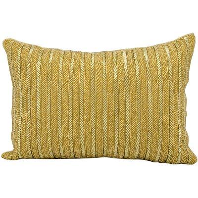 Beaded Stripes Lumbar Pillow Color: Gold