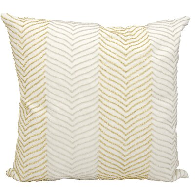 Beaded Herringbone Cotton Throw Pillow