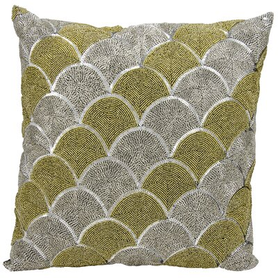 Beaded Scallops Cotton Throw Pillow