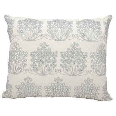 Ice Flowers Cotton Lumbar Pillow