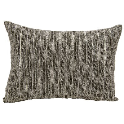 Beaded Stripes Lumbar Pillow Color: Pewter