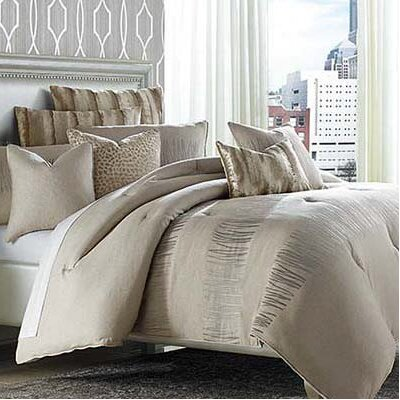 Captiva 10 Piece Reversible Comforter Set Size: King