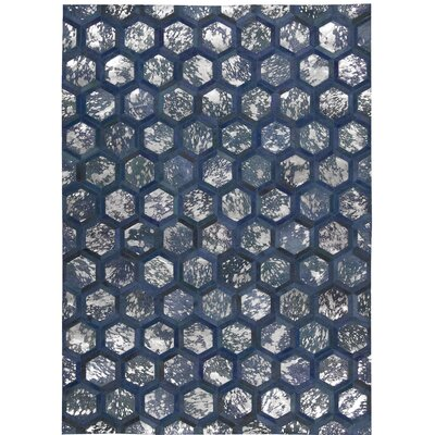 City Chic Handmade Cobalt Area Rug Rug Size: Rectangle 53 x 75