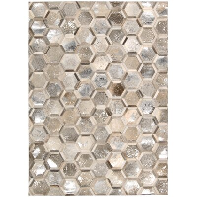 City Chic Hand-Woven Silver Area Rug Rug Size: Rectangle 53 x 75