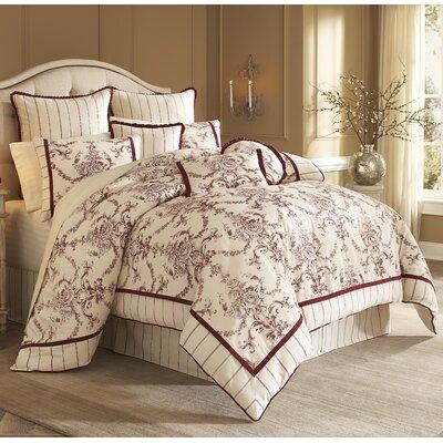 Hidden Glen Reversible Comforter Set Size: Queen