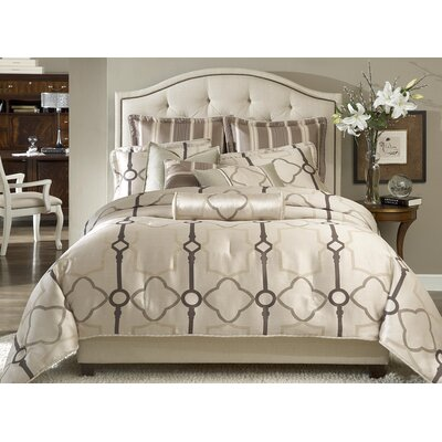 Keystone Court Reversible Comforter Set Size: King