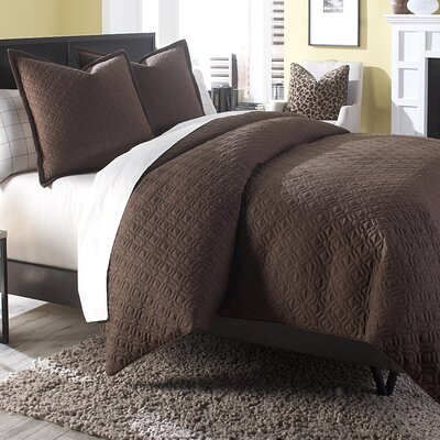 Leigh 3 Piece Reversible Duvet Cover Set Size: Queen