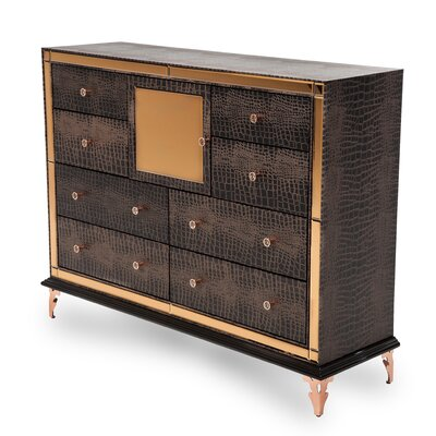 Hollywood Loft 8 Drawer Dresser Finish: Ganache