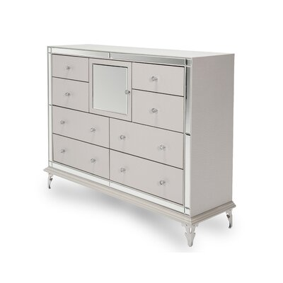 Hollywood Loft 8 Drawer Dresser Color: Frost