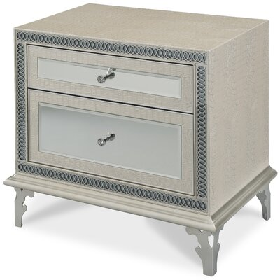 Hollywood Swank 2 Drawer Nightstand Color: Crystal Croc