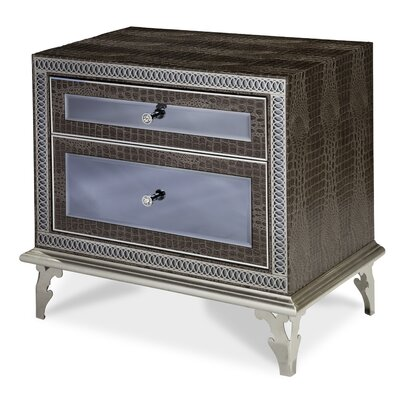 Hollywood Swank 2 Drawer Nightstand Color: Amazing Gator